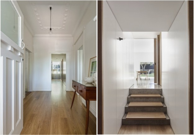 hall old + new