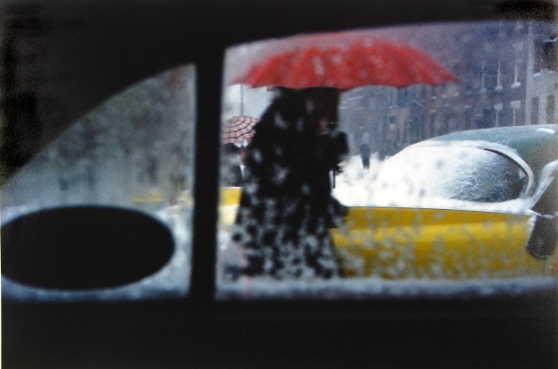 4. Red Umbrella c 1955 � Saul Leiter, courtesy of HackelBury Fine Art Howard Greenberg Gallery